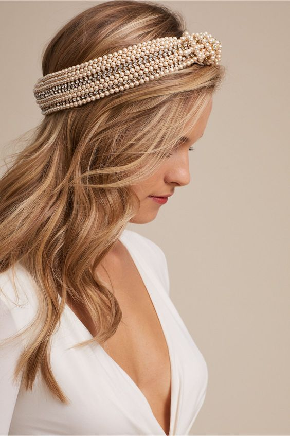 Sirene Pearl Turban from BHLDN