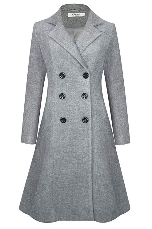 """Women/'s Ladies New Double Brested Trench Mac Flair Coat Fashion Jacket 42/"""" Long"""