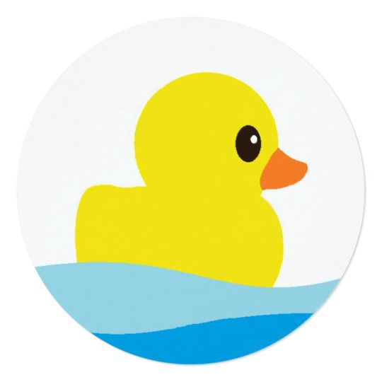 Rubber Ducky Round Invitations Zazzle Com In 2020 Rubber Ducky Ducky Duck Crafts