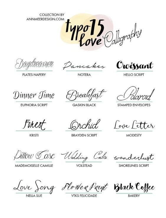 Top 15 Calligraphy Fonts Calligraphy Fonts Fancy Fonts Lettering