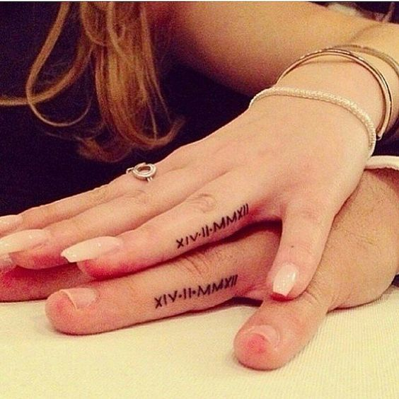 32 Real Couples Who Gave Up Their Engagement Rings For Tattoos: When Behati Prinsloo revealed her engagement tattoo —three small dots that run vertically down her ring finger —we were surprised.
