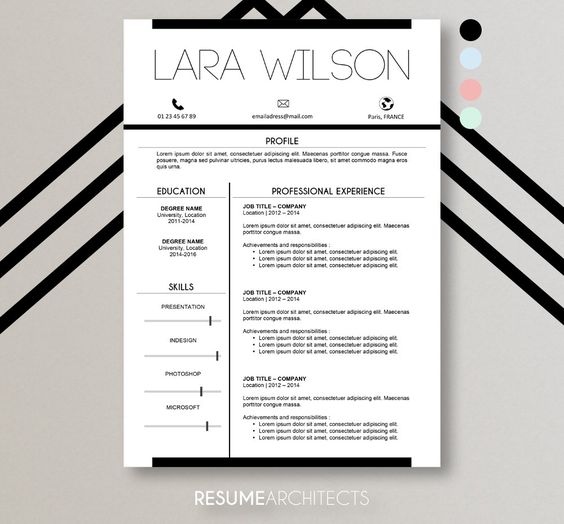 8 best Resume Template   CV Template images on Pinterest Cv - achievements resume