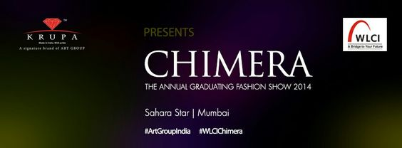 Krupa (A Signature Brand of Art Group) is the Title Sponsor for WLCI Chimera Graduating Fashion Show 2014.  The Fashion Show will be held at the Sahara Star in Mumbai  For more updates on the event and to join the conversation use the Hashtag #ArtGroupIndia#WLCIChimera  You can tag your friends participating in the Fashion Show  #Fashion#FashionShow#Designers#Chic#Designers #artgroupindia #BeadDesign#Beading