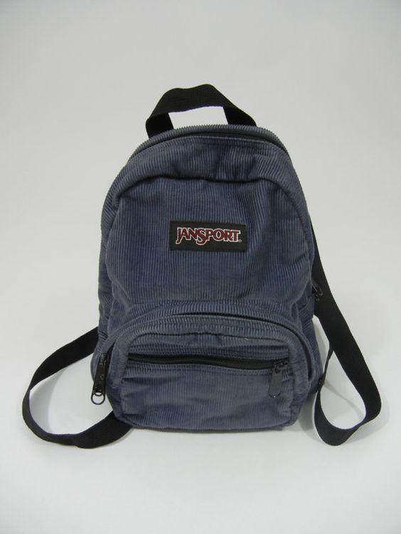 Vintage Jansport Mini Backpack Brown Corduroy | Backpacks ...