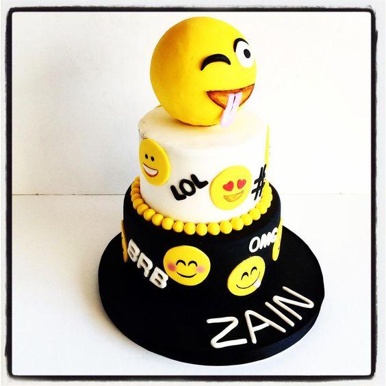 """""""😜😁😂😳😘 OMG cake 4eva, lol! Loved making this cake, #emoji #cake…"""