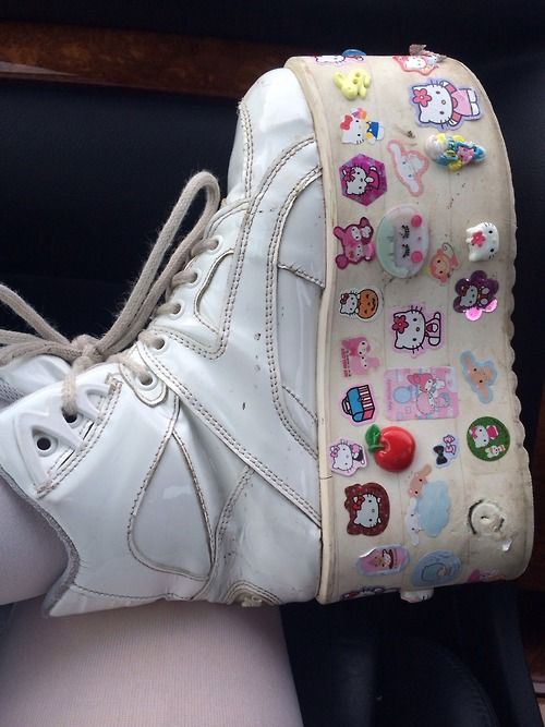 i wish someday i will have a pair of shoes full of sticker
