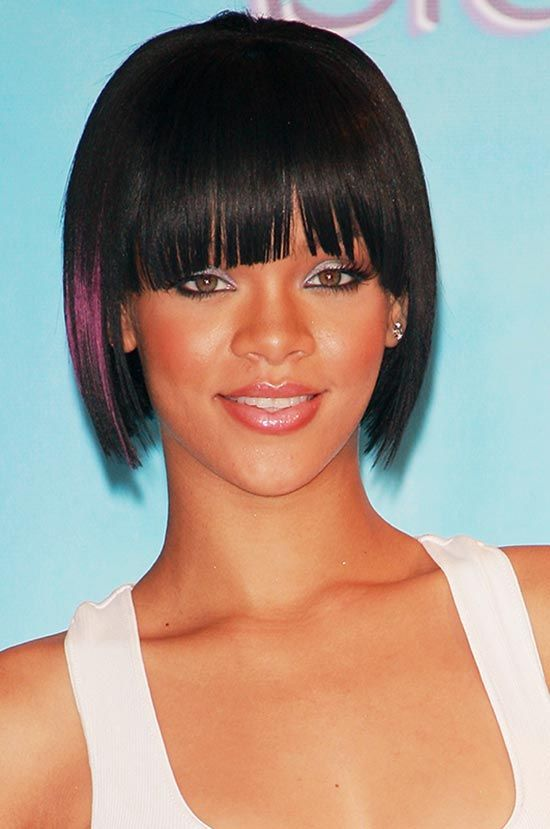 20 Best Hairstyles For Short Hair With Bangs And Styling Ideas Oval Face Hairstyles Rihanna Hairstyles Bob Hairstyles