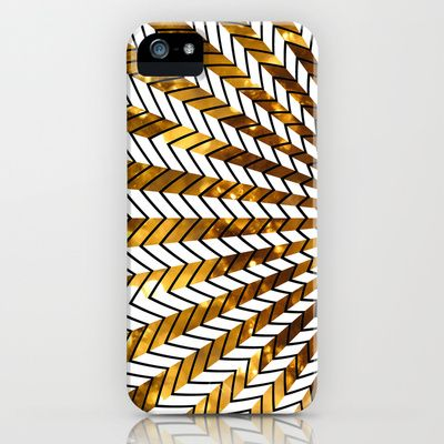 Low Peeks In Gold iPhone Case by Ornaart - $35.00