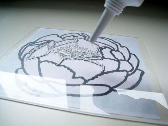 Make stamps using caulk!