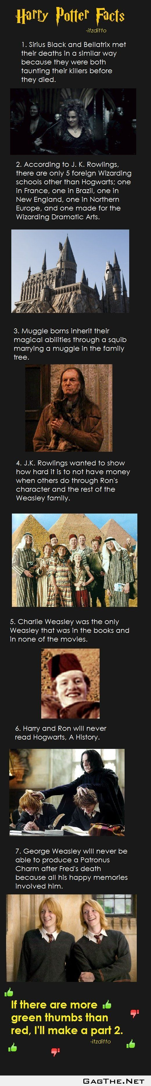 Harry Potter facts part 1 (for those looking)