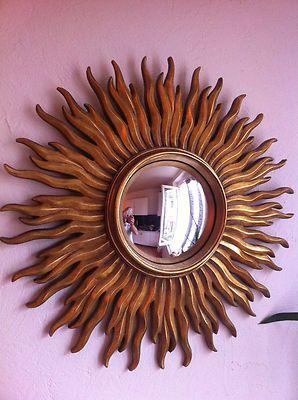 Miroir oeil de sorci re soleil vintage design miroir de for Miroir soleil oeil sorciere