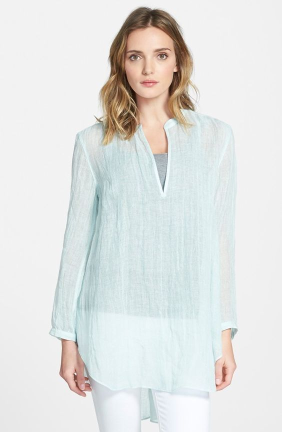 Eileen Fisher Linen Tunic | from LA to Paris: 3 summer refreshers