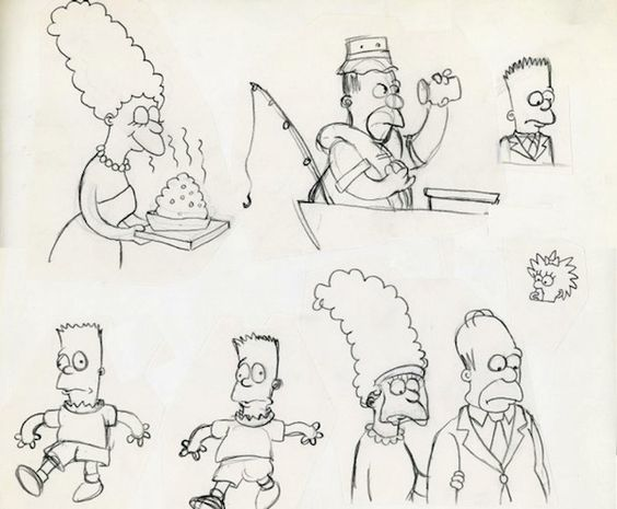 Are you a cartoon fanatic? These are early sketches of The Simpsons from 1987. As part of the Berkshire Collects exhibition, we have on display cartoon illustrations and autographs from famous artists! #BerkshireCollects