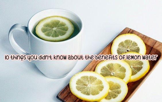 Lemon water benefits 12234