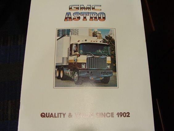 Gmc Astro Cabover Truck Sales Brochure Original  Gmc