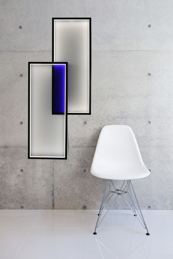 led indirect light wall lamp duo lt by cinier radiateurs