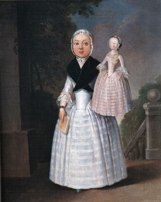 """""""Portrait of a Girl with a Doll"""" by an unknown English artist (1767):"""