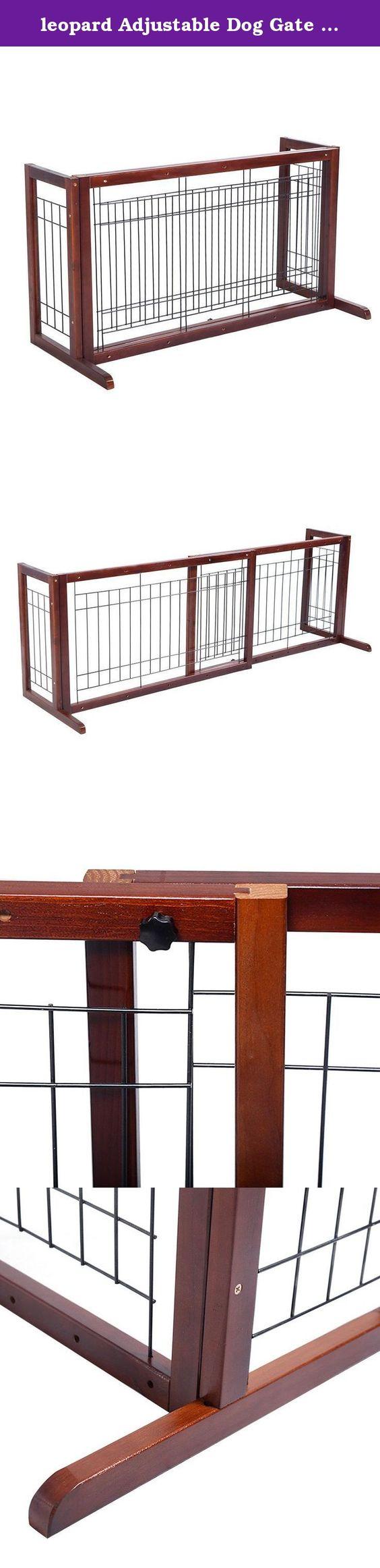 Leopard adjustable dog gate pet fence playpen indoor solid leopard adjustable dog gate pet fence playpen indoor solid construction free stand fir wood specifications baanklon Gallery