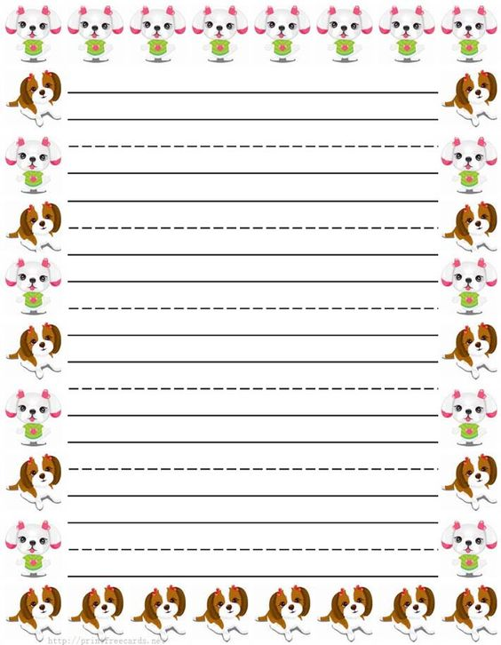 free printable primary lined writing paper