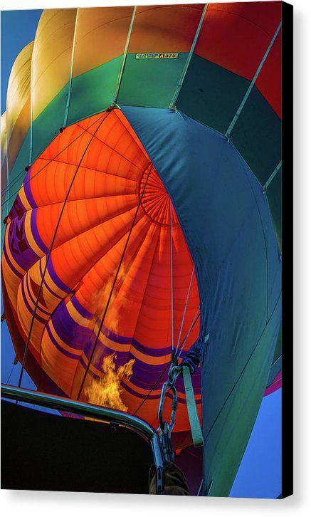 Hot Air Balloon Canvas Print featuring the photograph Hot Air Balloon by Judith Barath