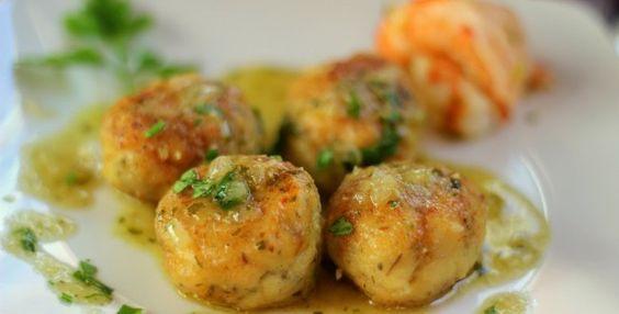 Bolitas de pollo con salsa de menta Utilisima