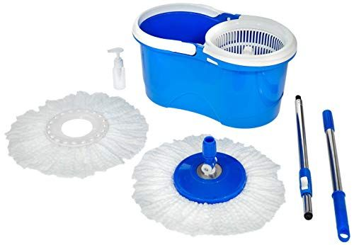 Amazon Brand Solimo Spin Mop Set With Extra Mop Refill Spin