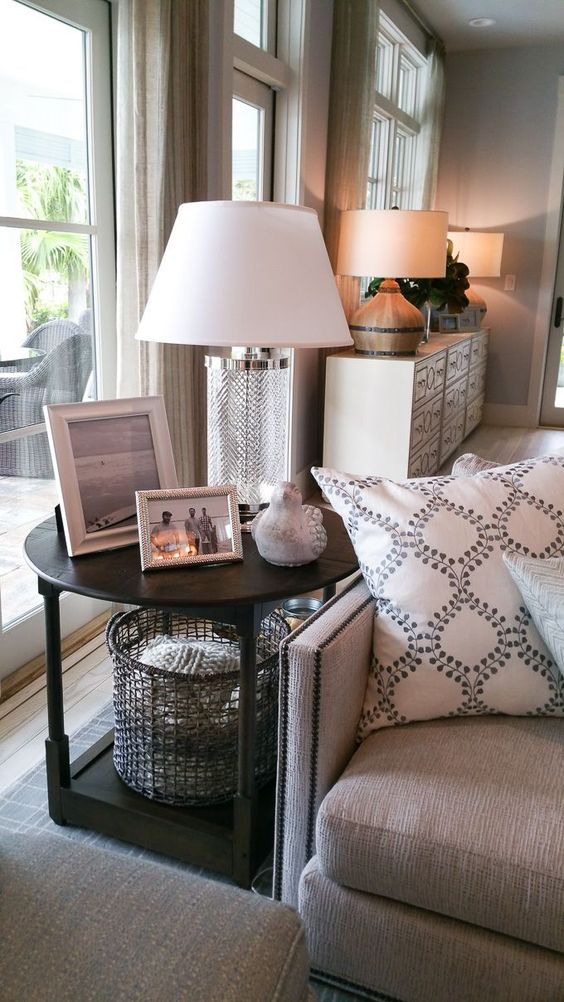 50 Inspiring Living Room Ideas | Side Tables, Round End Tables And