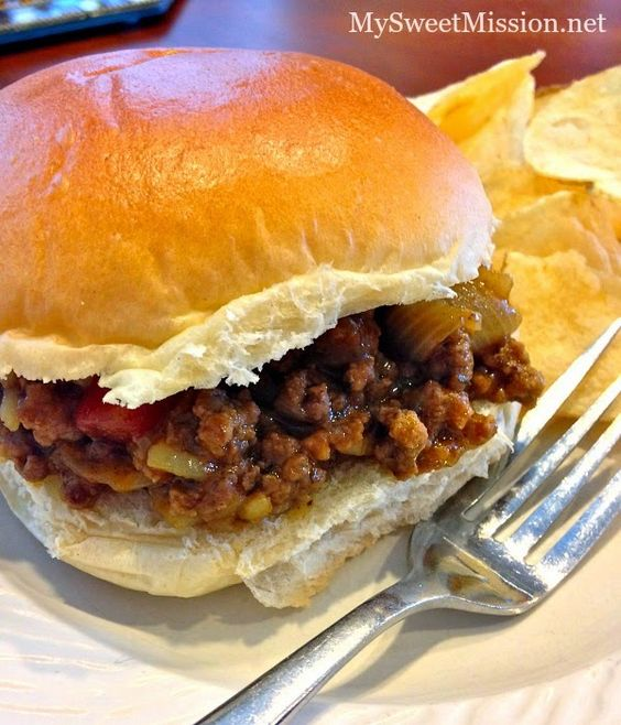 Mom's Sloppy Joes with Chicken Gumbo Soup by MySweetMission.net