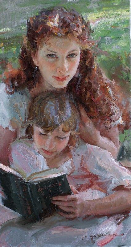 Artist Dan gerhartz | InSight Gallery - Artist: Daniel F. Gerhartz - Title: In Her Sisters Arms