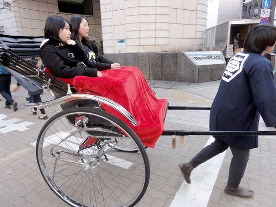 Rikscha, von Hand gezogen, in Tokyo Japan