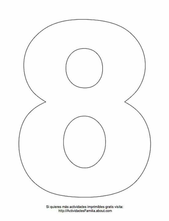 Numero 8 Numero Para Imprimir Numeros Para Imprimir Grandes Moldes De Letras Abecedario