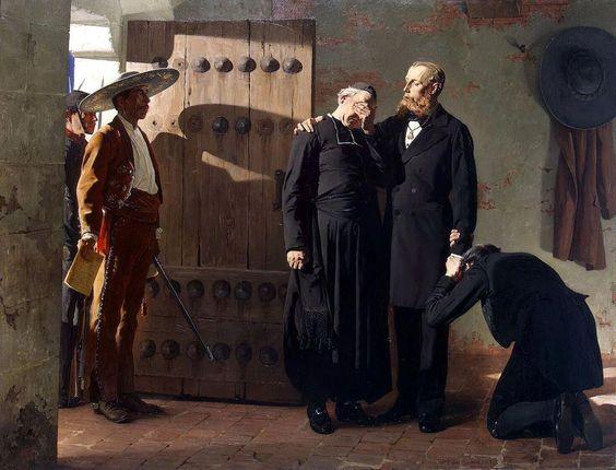 Fernando Maximiliano de Hasburgo, despidiendose