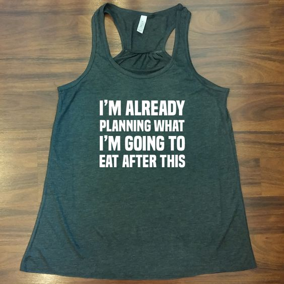 Funny workout tank top.  The perfect funny gym shirt.