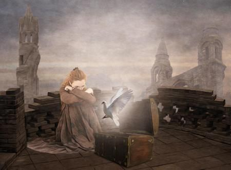 the myth of pandoras box essay Free essay: according to greek mythology, the griefs of life came into existence  as a result of the introduction of a woman into a purely man inhabited.