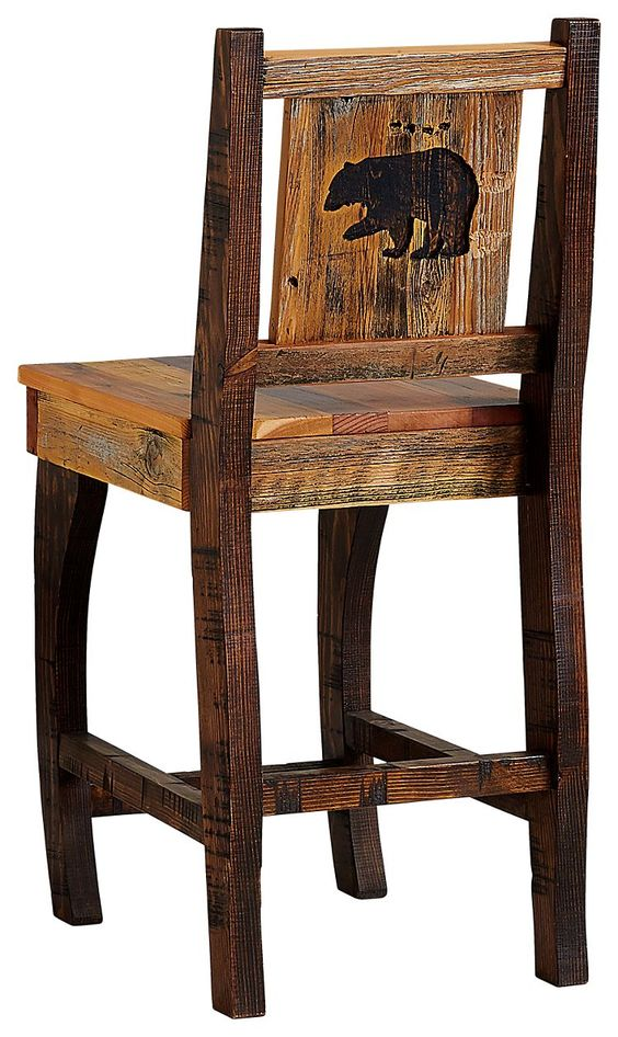 Barnwood Dining Room Furniture Collection Barstool Bear