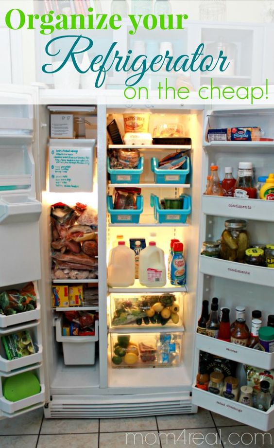 Organize Your Refrigerator On The Cheap The O 39 Jays Mom