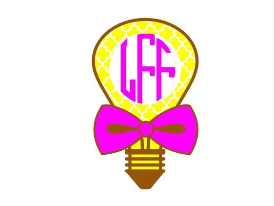 Light Bulb Monogram Decal Add a Personality to Christmas Gift, Great Personal Gift, Gift wrapping available, Personalize Almost Anything! by FransEverythingShop on Etsy