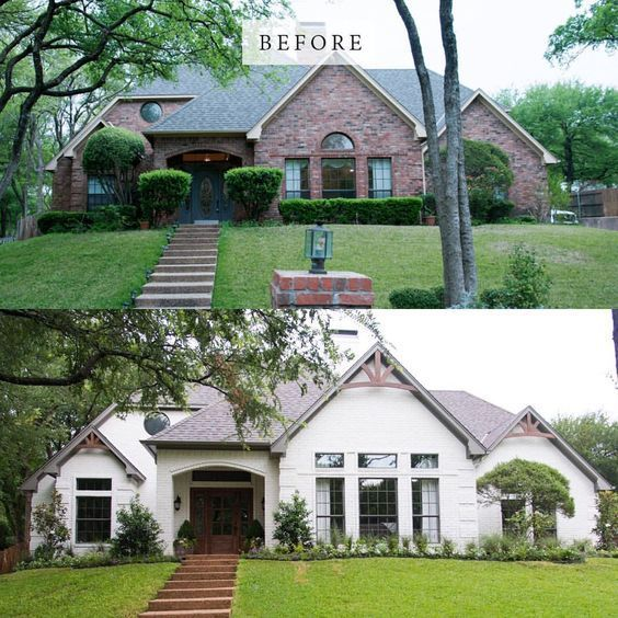 Before And After From 80 S To Elegant On Fixer Upper Brick