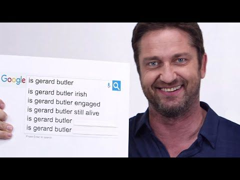 Gerard Butler Answers The Web S Most Searched Questions Google Autocomplete Interview Wired Youtube Gerard Butler Gerard London Has Fallen