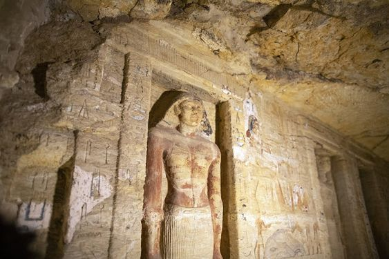 Egypt reveals 59 intact 26th Dynasty coffins found at Saqqara Necropolis