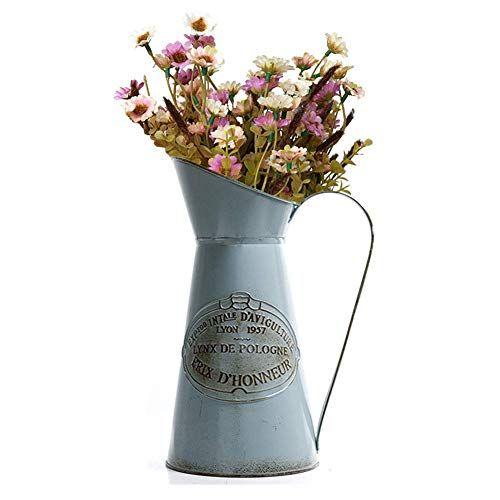 Yoillione Metal Flower Vase Rustic Jug Flower Vase Vinta Https Www Amazon Com Dp B07mdmrdn6 Ref Cm Sw R Pi Dp U X Hwhbcbe Metal Flowers Flower Vases Vase