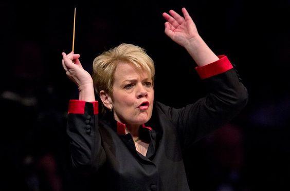 Die amerikanische Dirigentin Marin Alsop leitet in Baltimore seit 2007 als...