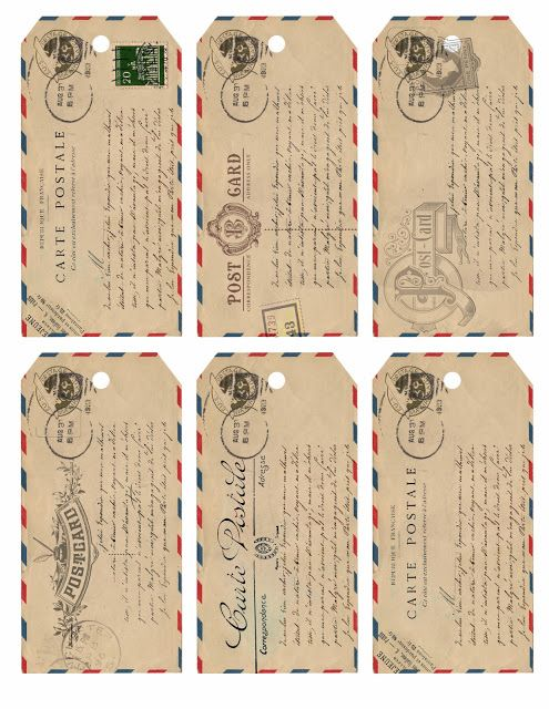 Free printable airmail gift tags from The Loveliest Little Details.