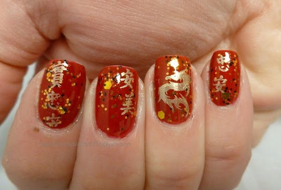 chinese finger nails | Chinese New Year | Nails: