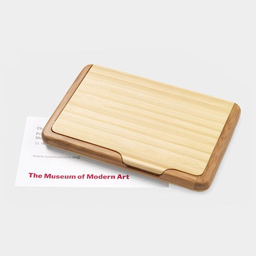 Bamboo Business Card Case