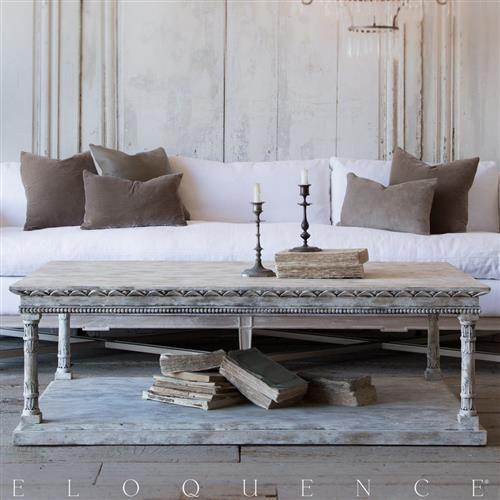 SSwedish living room decor. Gustav coffee table. Swedish decor inspiration, French and Gustavian Design Style from Eloquence. #swedish #interiordesign #frenchcountry #gustavian #nordic #decoratingideas #whitedecor #eloquence #furniture