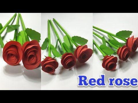 Diy Ide Kreatif Mawar Dari Kertas Origami Youtube Mawar