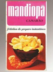 Mandiopã Camarão embalagem tradicional antiga década de 1970