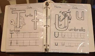 Pre-K Workbook- Free printables in the link-click on the title of the worksheet for link :) good stuff!!