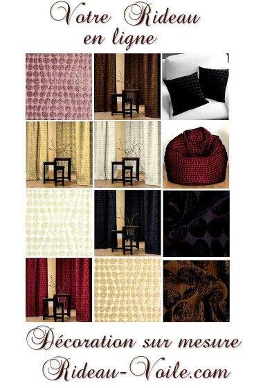 Decoration textile interieur maison tissu ameublement rideau sur mesure personnalisé velours velvet curtain tenda vorhang függöny drapes decor room interior living bed - http://www.rideau-voile.com/